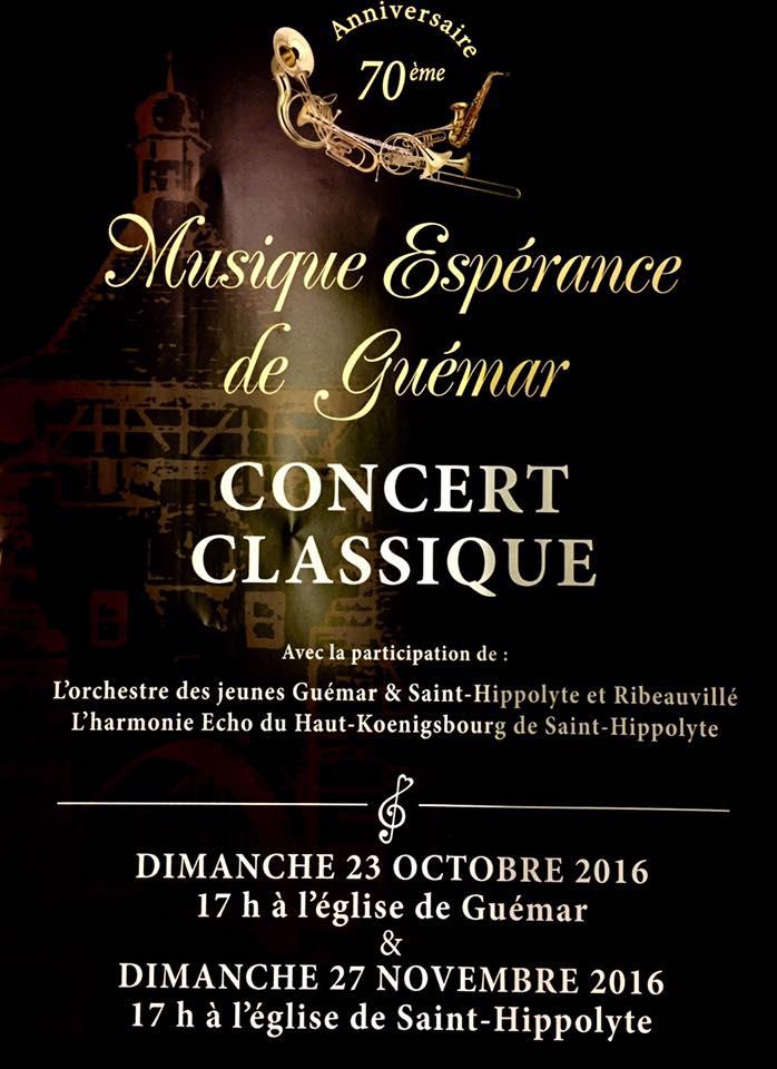 Affiche Concert Classique Guémar 2016